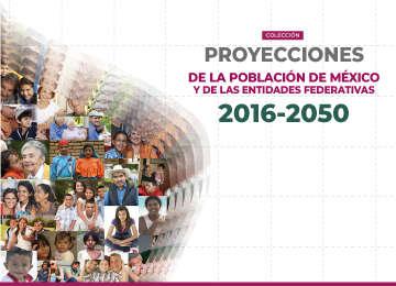 Portada de los Cuadernillos Estatales de las Proyecciones de la Población de México y de las Entidades Federativas, 2016 - 2050