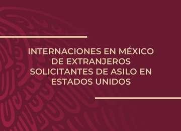 Internaciones en México de extranjeros solicitantes de asilo en EU
