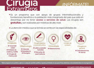 Cirugía Extramuros benefició a 971 pacientes de enero a junio de 2019.