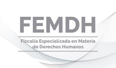 Logotipo de la Fiscalía Especializada en Materia de Derechos Humanos