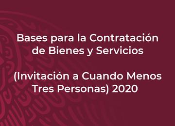 Bases para la Contratación de Bienes y Servicios (Invitación a Cuando Menos Tres Personas) 2020