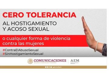 """""""Cero Tolerancia al hostigamiento y acoso sexual"""""""