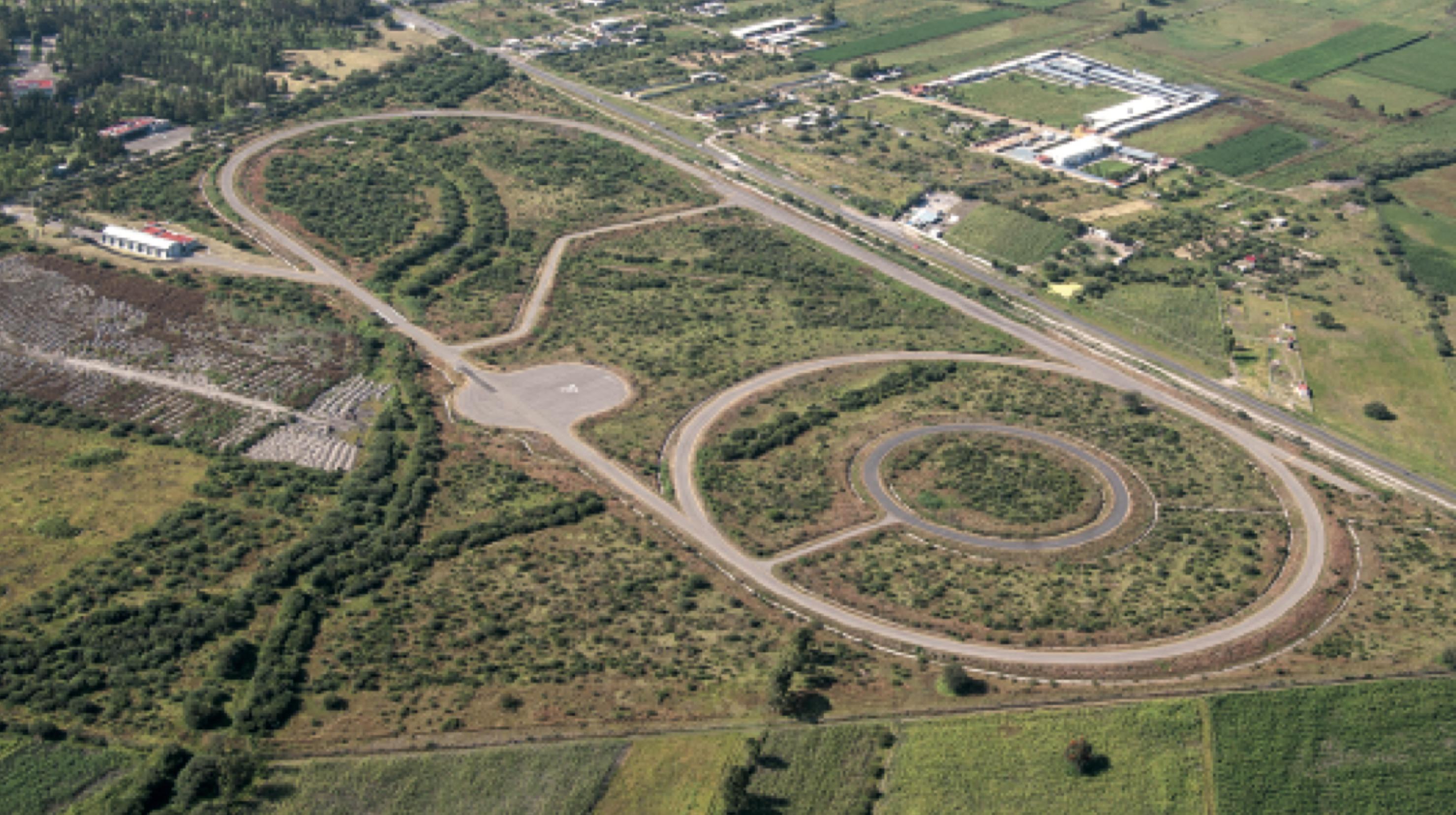 Fotografía de la pista de pruebas