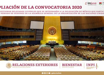 Ampliación de la Convocatoria 2020 para seleccionar Delegados Juveniles.