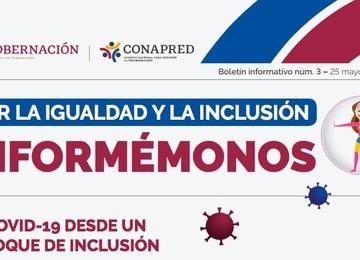"""Banner Boletín Informativo núm. 3 """"Por la Igualdad y la inclusión, informémonos"""""""