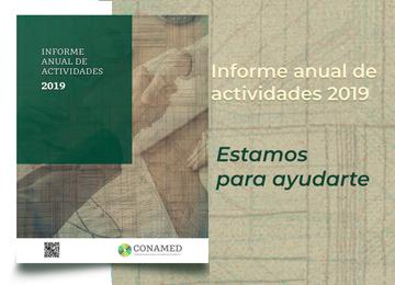 Informe anual de actividades de la CONAMED 2019