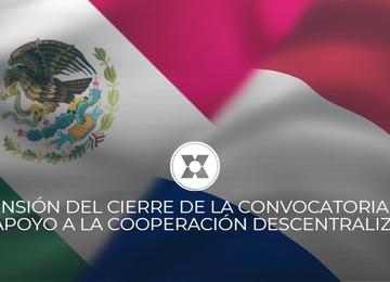 Extensión del cierre de la Convocatoria 2020 en Apoyo a la Cooperación Descentralizada.