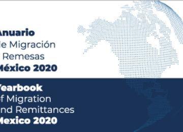 Portada del Anuario de Migración y Remesas México 2020