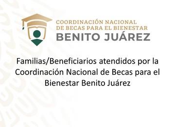 """Imagen institucional con el título del documento """"Familias/Beneficiarios atendidos por la CNBBBJ"""""""