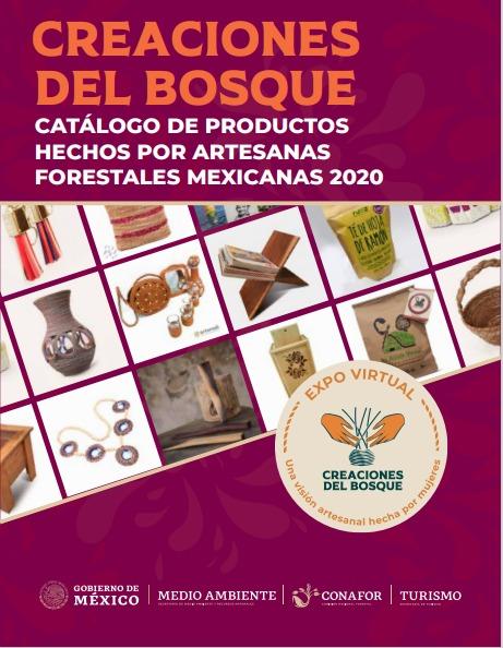 catálogo de productos hechos por artesanas mexicanas forestales