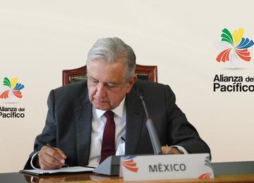 Declaración de Santiago suscrita por los presidentes de Chile, Colombia, México y Perú en la XV Cumbre Presidencial Alianza del Pacífico