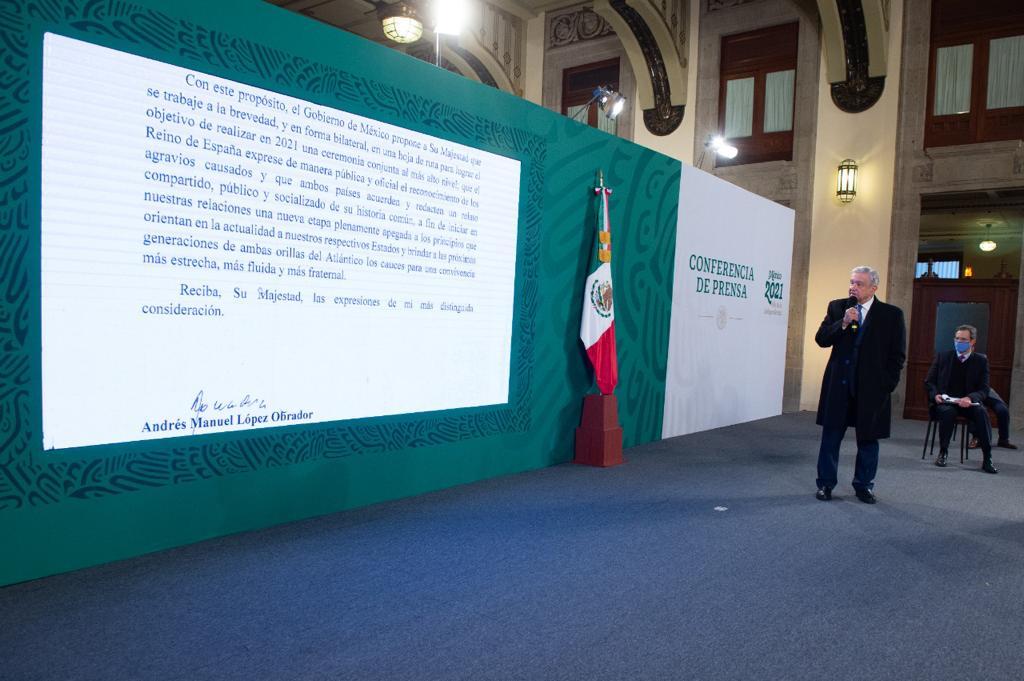 Carta del presidente Andrés Manuel López Obrador a Felipe VI, Rey de España