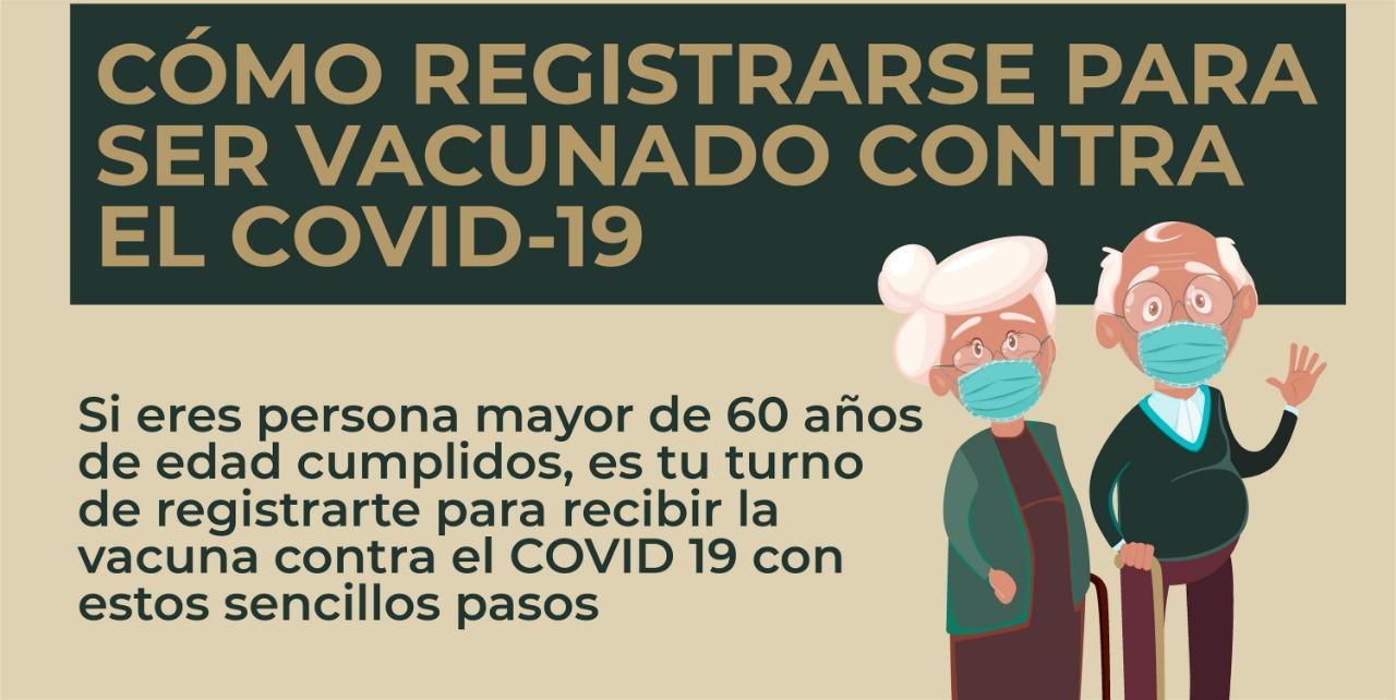 Adultos mayores. Cómo registrarse para recibir vacuna contra COVID19