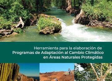 Portada de la Herramienta para la Elaboración de Programas de Adaptación al Cambio Climático en Áreas Naturales Protegidas.
