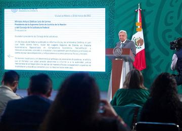 Carta del presidente López Obrador al ministro presidente de la SCJN