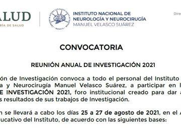REUNIÓN ANUAL DE INVESTIGACIÓN 2021