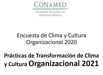 Encuesta de Cultura y Clima Organizacional 2020 y Prácticas de Transformación de Cultura y Clima Organizacional 2021