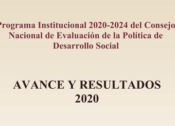 Avance y resultados del Programa Institucional del CONEVAL 2020-2024
