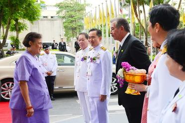 Guillermo Hopkins, Chakrit Parapuntakul y la Princesa Maha Chakri Sirindhorn de Tailandia.