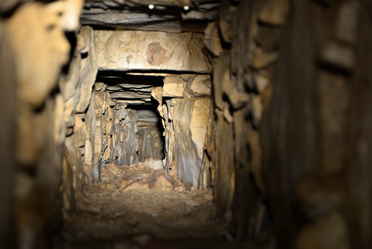 Sistema hidráulico bajo la tumba de Pakal, en Palenque, Chiapas