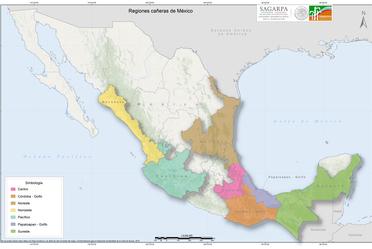 Regiones cañeras de México