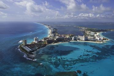 Vista aérea de Cancún, Quintana Roo