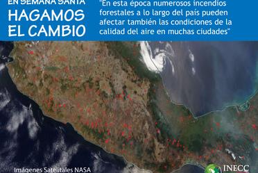 Incendios forestales en México abril 2017