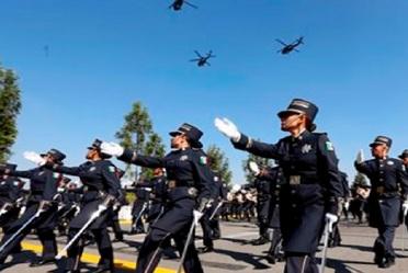 POLICÍA FEDERAL REALIZA PASE DE LISTA PARA ACOMPAÑAR A LAS FUERZAS ARMADAS EN EL DESFILE MILITAR CONMEMORATIVO DE LA INDEPENDENCIA DE MÉXICO