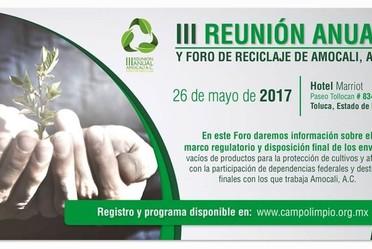 III Reunión anual y foro de reciclaje de Amocali, A.C.