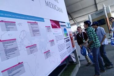 La Agencia Espacial Mexicana fue anfitrión del Pabellón Espacial.
