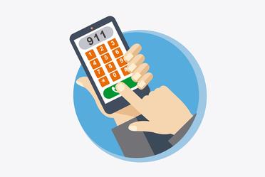9-1-1 número único de llamadas de emergencias