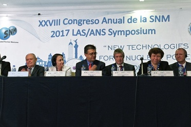 El Ing. Eibenschutz participó como conferenciante durante el XXVIII Congreso anual de la Sociedad Nuclear Mexicana