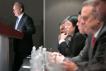 El Director General de Banobras, Alfredo Vara, participó en la presentación del los primeros cierres financieros de proyectos ganadores de las Segundas Subastas eléctricas