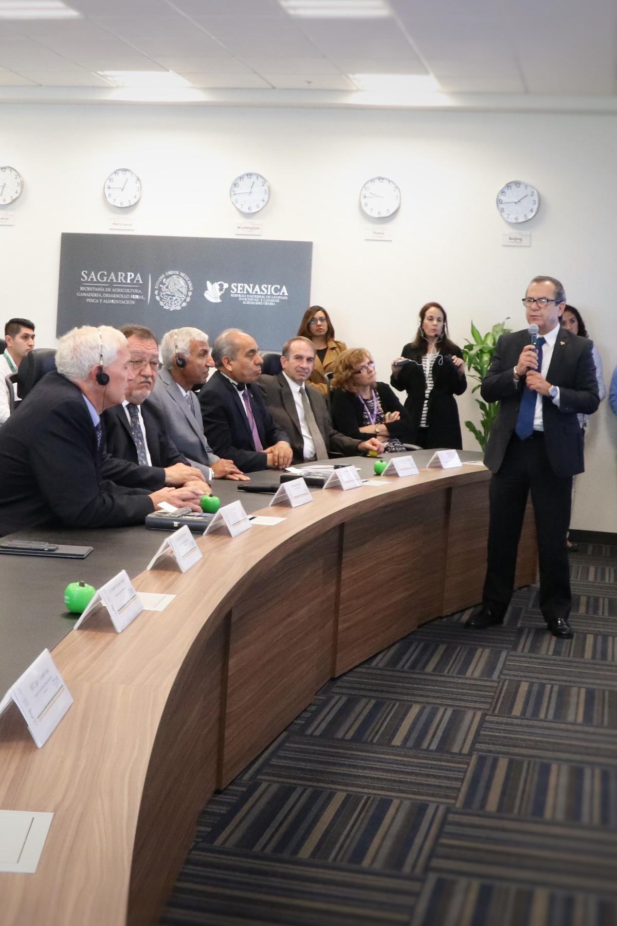 México, EUA y Canadá reunidos en la Unidad de Inteligencia Sanitaria del SENASICA