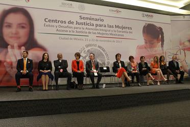 Seminario de los Centros de Justicia para las Mujeres 2017