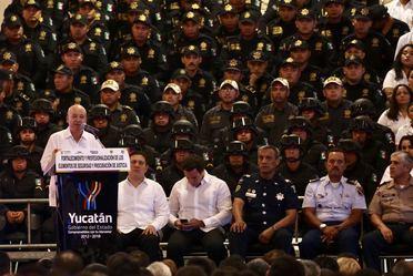 """CNS en el evento de """"Fortalecimiento y Profesionalización de los elementos de Seguridad y Procuración de Justicia"""" en Yucatán"""