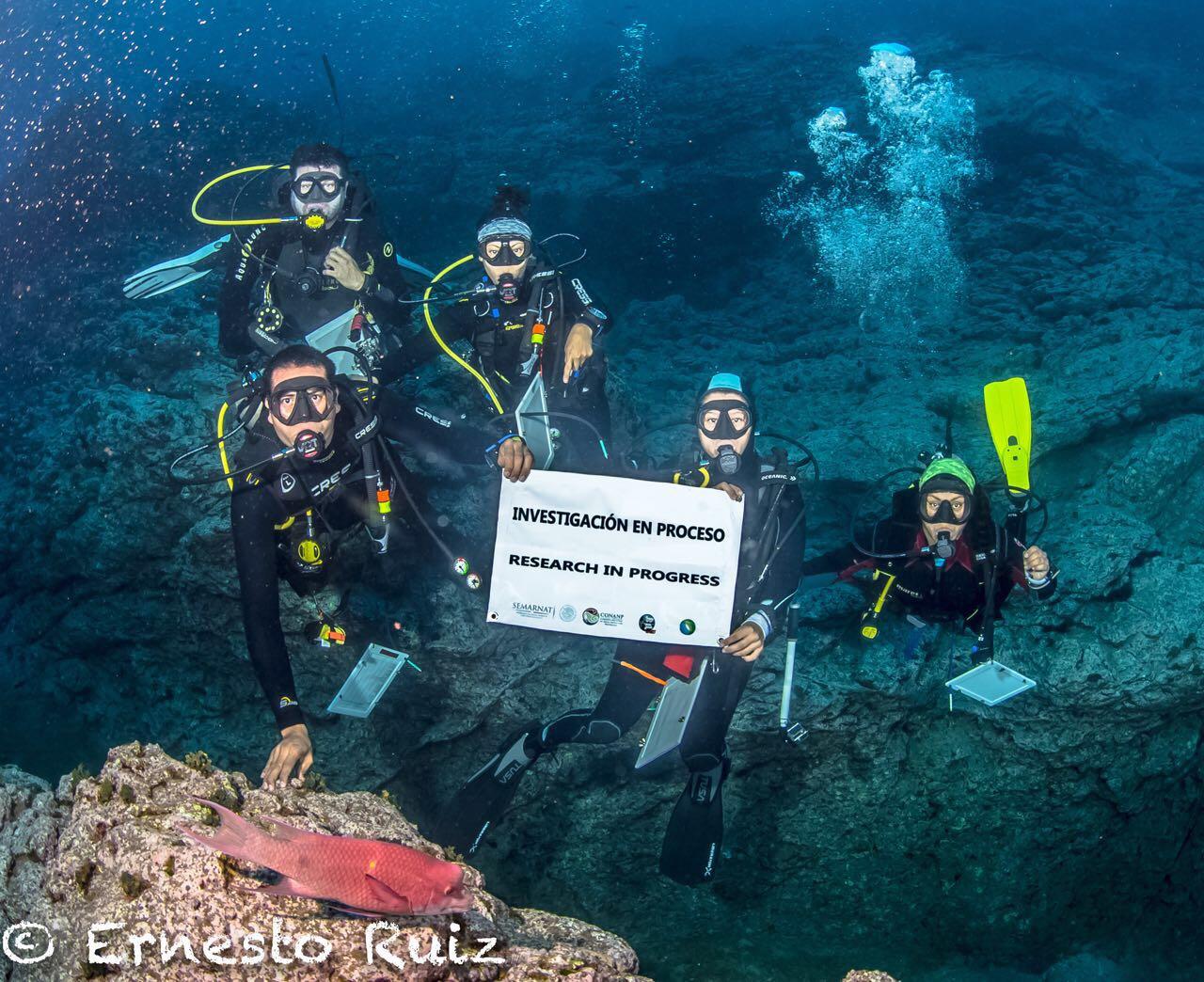 La CONANP y la Universidad Autónoma de Baja California Sur realizaron el primer monitoreo después de que el Archipiélago de Revillagigedo fuera decretado Parque Nacional