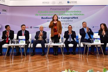 Presentan SFP y OCDE diagnóstico para la mejora del Sistema Electrónico de Contratación Pública, CompraNet
