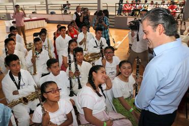 Visita a los integrantes de la Orquesta y Coro de Música Tradicional Mexicana, en Oaxtepec, Morelos