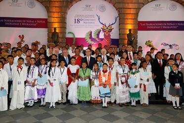 Ceremonia de Entrega de Reconocimientos del 18º Concurso Nacional: Las narraciones de niñas y niños Indígenas y Migrantes