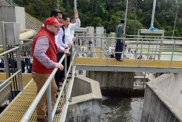 Entrega de la Planta de Tratamiento de Aguas Residuales (PTAR) San Antonio, en Uruapan, Michoacán.