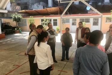 Visita a Escuela 21 de Marzo, Ciudad de México