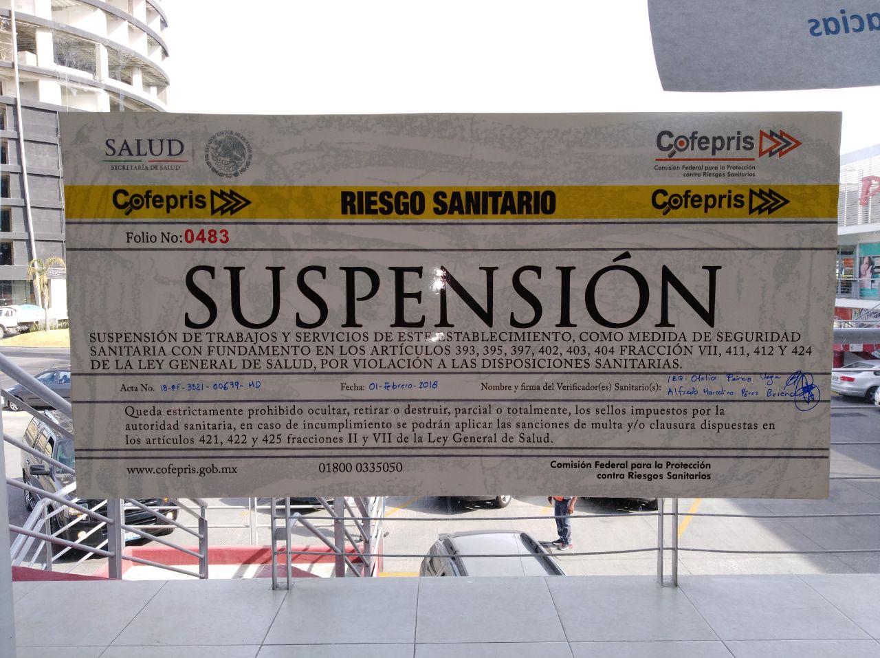 Etiqueta de suspensión.