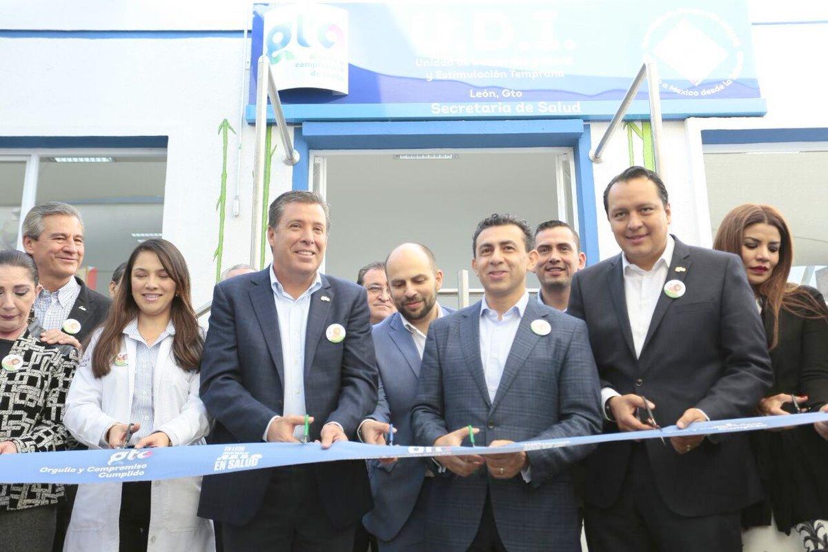 Con una inversión de 2.5 millones de pesos por parte del Seguro Popular, el comisionado nacional, Antonio Chemor Ruiz y el gobernador de Guanajuato, Miguel Márquez Márquez, inauguraron la Unidad de Desarrollo Infantil (UDI) en León.