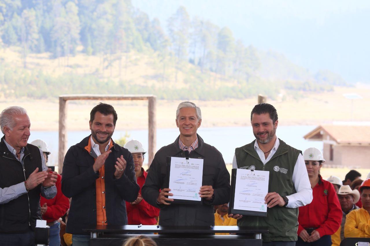 SEMARNAT y el Gobierno del Estado de México firmaron convenios para fortalecer acciones forestales y protección de áreas naturales protegidas