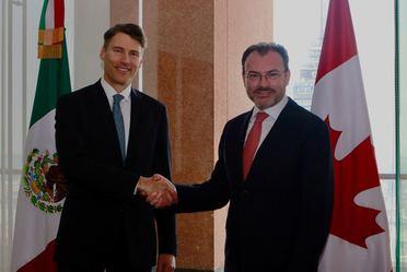El Secretario de Relaciones Exteriores, Luis Videgaray se reunió con el Alcalde de Vancouver, Gregor Robertson