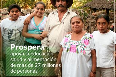 Familia de beneficiarios de Sedesol