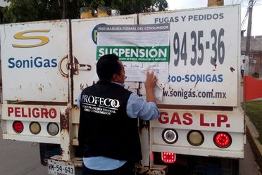 Inmoviliza Profeco cilindros de Gas LP, como parte de su operativo de verificación Permanente