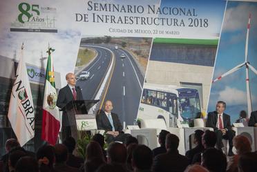 El Secretario de Hacienda y Crédito Público, José Antonio González Anaya, inauguró el Seminario Nacional de Infraestructura 2018