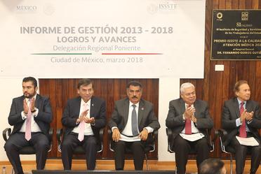 Informe de Gestión 2013-2018, logras y avances. Delegación Regional Poniente.